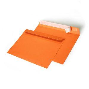 Конверт оранжевый, С5 162х229 мм,отрывная лента