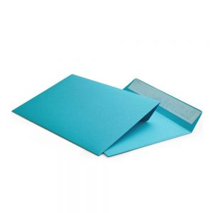 Конверт голубой С5 162х229 мм, отрывная лента