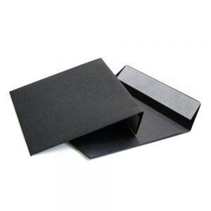 Конверт чёрный С4 229х324 мм, отрывная лента, 120г