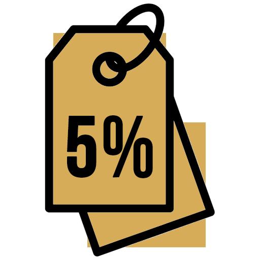 скидка на упаковку 5%